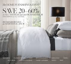 restoration hardware free shipping on all textiles save 20 60