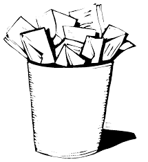 waste paper baskets wastepaper basket clipart clipground