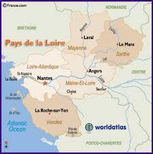 map of le mans map of the pays de la loire region of including nantes le