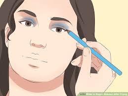 image led repair makeup after crying step 12