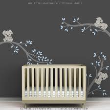 Nursery Tree Wall Decal Blue Baby Boy Wall Decal Baby Nursery Tree Wall Sticker Decor Boy