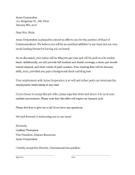 offer letter template that works clicktime