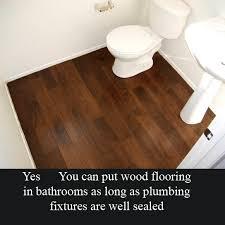 Hardwood Floors In Bathroom Hardwood Floor In Bathroom Rub A Dub Dub Farmhouse Style