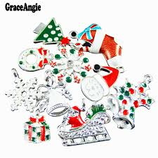 30pcs mix stylish mini christmas present charms gift colorful