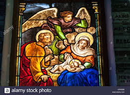 birth of jesus christ stained glass window notre dame cathedral
