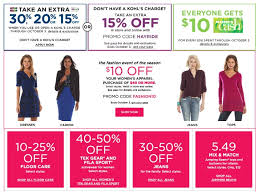 kohl s coupon codes for 30 10 apparel and more