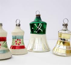 vintage glass christmas tree bells baubles decorations ornaments