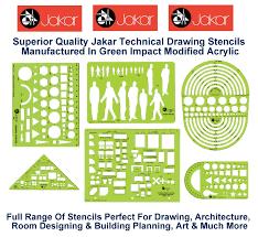 Interior Design Drawing Templates by Jakar Stencils Templates Architectural Technical Artist Design