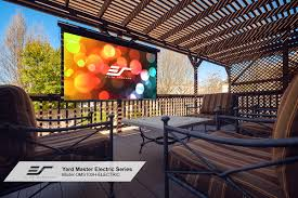yard master electric series outdoor projector screens elite