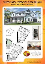 home builders advantage three storey federation custom design