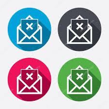 supprimer icone bureau courrier supprimer icônes image vectorielle blankstock 60071705