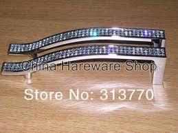 128mm chrome color k9 crystal glass cabinets knobs handles dresser