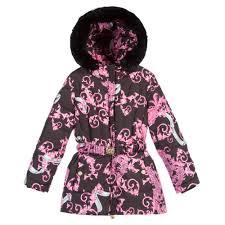 young versace girls down padded pink u0027dragon u0027 print coat