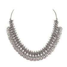 necklace metal images Buy sansar india oxidized silver plated coins choker necklace for jpg