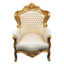 bedroom exquisite king lion throne chair gold white and rental