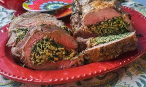 matzah farfel roasted roulade with spinach and matzo farfel the