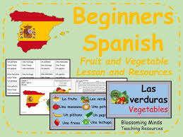 primary spanish resources food and drink