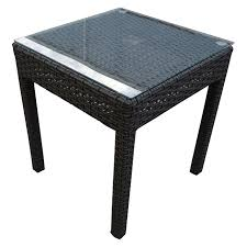 Wicker Side Table Rhodes 3 Piece Tub Side Table Setting Granite Wicker Inspired
