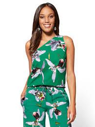 one shoulder blouse ny c 7th avenue one shoulder blouse floral
