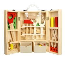 aliexpress com buy leadingstar kids wooden tool box set