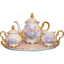 vintage tea set vintage hutschenreuther tea set painted bavaria from