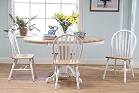 Country Style Dining Room Sets Simple Living Farmhouse 5 White Dining