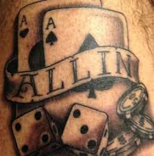 gambling tattoos poker player goes all the way
