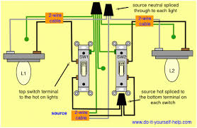 wiring diagram for light switch to multiple lights circuit and