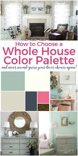 how to create a whole house color palette and never second guess