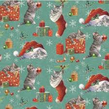 cat christmas wrapping paper kittens in gift wrap national animal welfare trust shop
