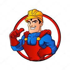 superhero handyman in circle u2014 stock vector milesthone 108185250