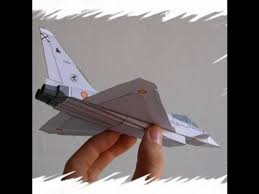3d paper model airplanes print outs eurofighter paper airplane 3d model youtube