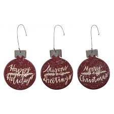 wooden christmas ornaments wooden christmas ornaments set of 3 merry christmas happy