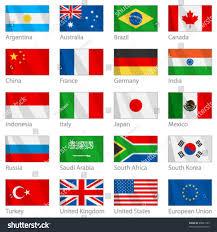 Flag Com Vector File Waving G20 Flags Border Stock Vektorgrafik 28081189