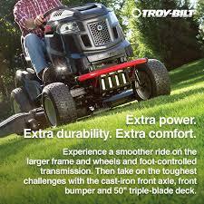 shop troy bilt xp super bronco xp 50 24 hp v twin hydrostatic 50