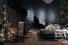 beautiful black interior showcased in a historic paris apartment
