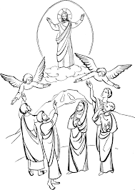 jesus ascension coloring page cartoon jesus coloring page free