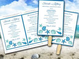 Program Fan Template Beach Wedding Fan Microsoft Word Template Blue Lagoon Teal