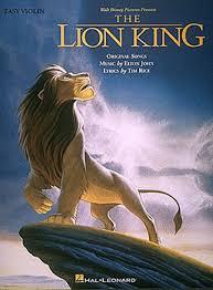 lion king easy violin sheet music elton john sheet