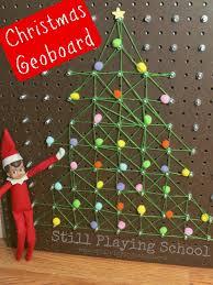 christmas tree geoboard hands on math activity for kids still