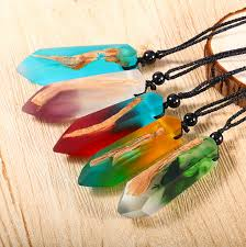 resin wood necklace images Handmade epoxy resin pendant necklace wood and resin jewelry buy jpg
