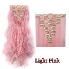 pink hair extensions real thick clip in hair extensions extentions 18clips on