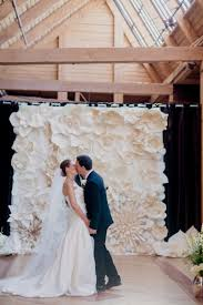 wedding backdrop paper flowers paper flower ceremony backdrop elizabeth designs the