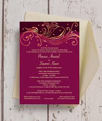 asian wedding invitations burgundy gold indian asian wedding invitation from 1 00 each