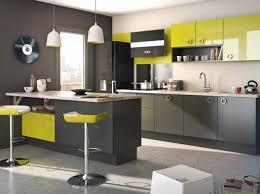 cuisine gris et decoration cuisine gris et jaune look cuisine la