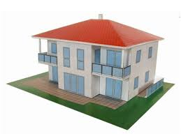 build a house free mauerbach modern house free building paper model http