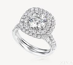 square engagement rings with halo square halo engagement ring with 2 row band