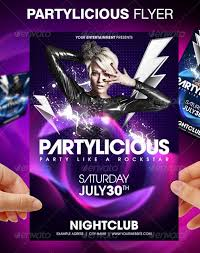 party flyer electro party free flyer template download for