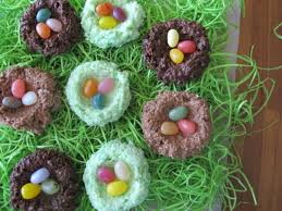 coconut easter eggs chocolate coconut nests with jelly bean eggs recipe serious eats