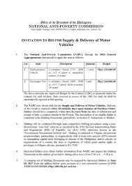 to bid repost invitation to bid for supply and delivery of motor